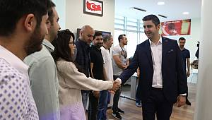 Başkan Yüksel personelini ziyaret etti
