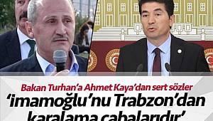 Trabzonlu vekilden Trabzonlu Bakana tepki