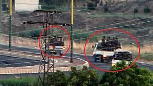 3 kamyonetin içindeki 50 teröristin hareketliliği Mardin'den görüntülendi