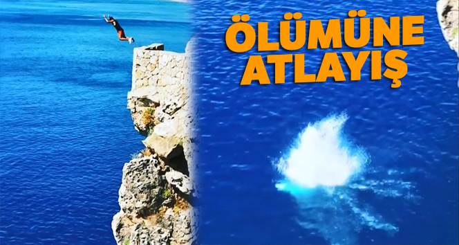 Antalya'da 40 metrelik falezlerden ölümüne atlayışlar
