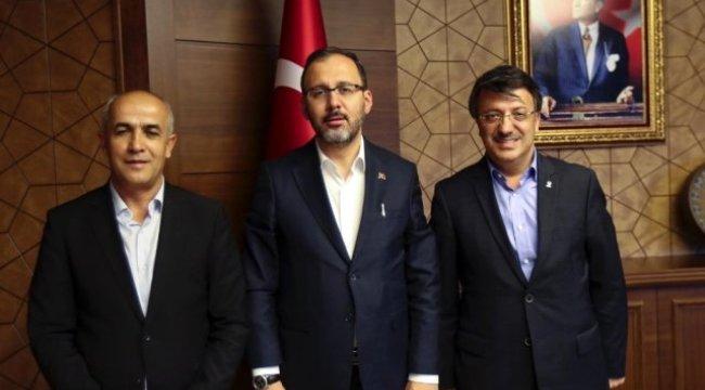 Başkan Türkmenoğlu, Bakan Kasapoğlu ile görüştü