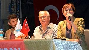 Canan Kaftancıoğlu, Datça'da panele katıldı