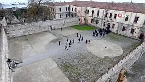 Sinop Tarihi Cezaevi havadan görüntülendi