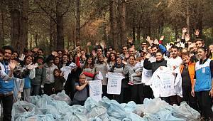 Aydos Ormanı, katı atıklardan arındırıldı
