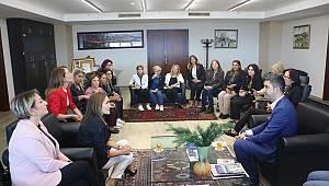 CHP Kadın Kollarından Başkan Yüksel'e ziyaret