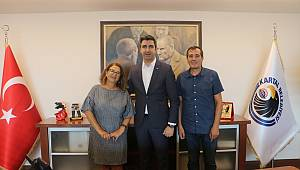 Cumhuriyet ve Birgün Gazetesi'nden Başkan Yüksel'e ziyaret