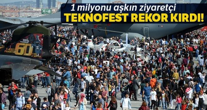 TEKNOFEST'te ziyaretçi sayısı 1 milyonu aştı