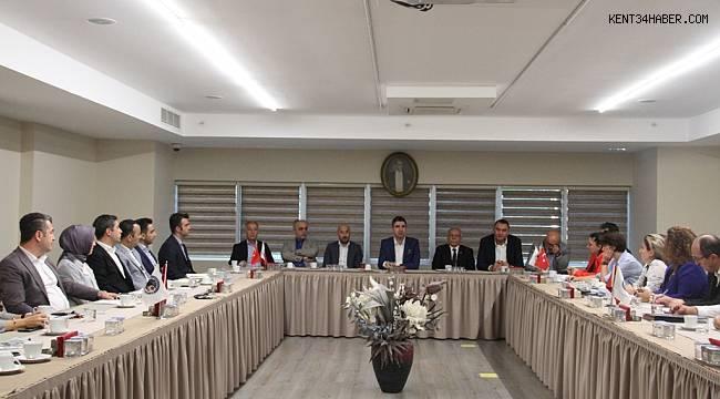 Başkan Yüksel, ekibiyle toplantı yaptı