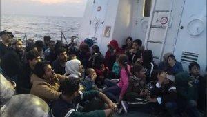 Didim açıklarında 43 göçmen yakalandı