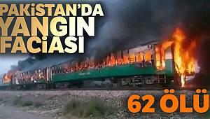 Pakistan'da yolcu treninde yangın! 62 ölü
