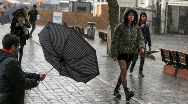 Meteoroloji'nin uyarısı sonrası beklenen yağış başladı