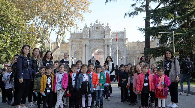 Minik Kartallılar Dolmabahçe Sarayı'nı ziyaret etti