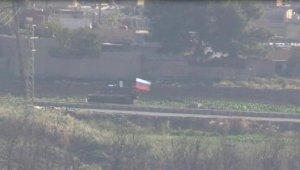 Rus birliklerinin Kamışlı'daki devriyeleri görüntülendi
