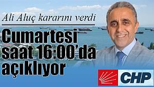 CHP Kartal'da Ali Aluç da adaylığını açıklıyor