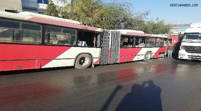 Esenyurt'ta korkutan otobüs yangını