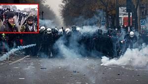 Fransız polisinden göstericilere sert müdahale!