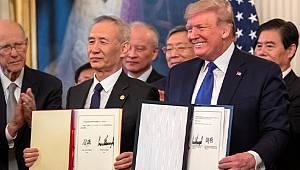 ABD ve Çin arasındaki ticaret savaşını bitirecek anlaşmanın ilk fazı imzalandı