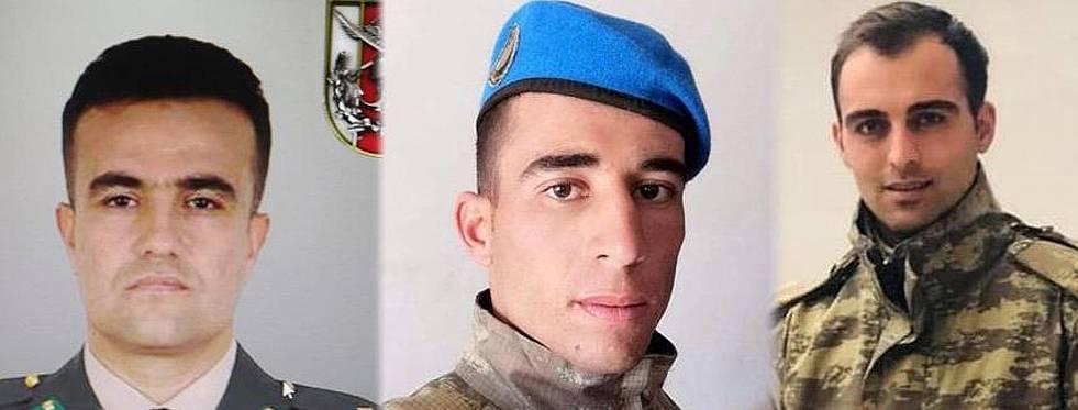 Barış Pınarı Harekâtı Bölgesi'nde 3 asker şehit oldu