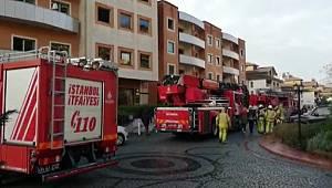 Beykoz'da lüks sitede yangın paniği