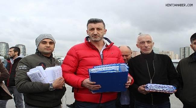 İstanbul'da 'trafik cezası' eylemi