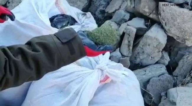 Lice'de, yastık kılıfı ve poşetlerde 62 kilo esrar ele geçirildi