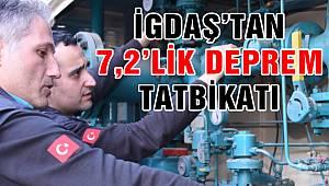 İGDAŞ'tan 7.2'lik Deprem Tatbikatı