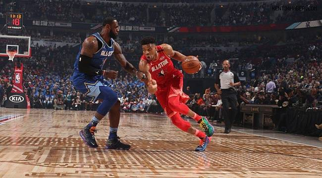NBA All-Star maçında kazanan Lebron´un takımı