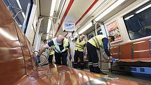 İstanbul'da toplu taşıma araçları temizlendi