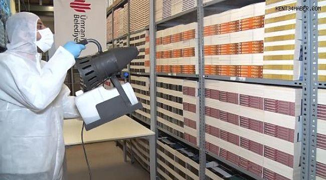 Ümraniye Belediyesi, dezenfekte ettiği 35 bin kitabı evlere tek tek dağıtacak