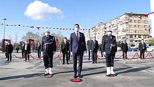 Başkan Yüksel'den Atatürk Anıtına Çelenk