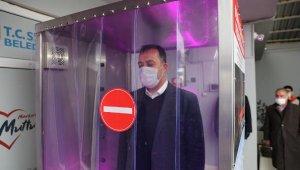 Belediye personeli dezenfekte olarak mesaiye başlıyor