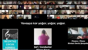 Çocuk korosu dijital ortamda 'Kar' adlı eseri seslendirdi