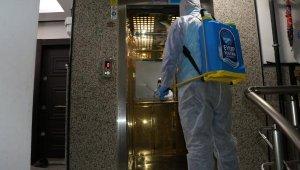 Dezenfeksiyon ekipleri çalışmalarını sürdürüyor