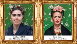 Öğretmenler Ünlü Ressamların Otoportrelerini ve Tablolarını Canlandırdı
