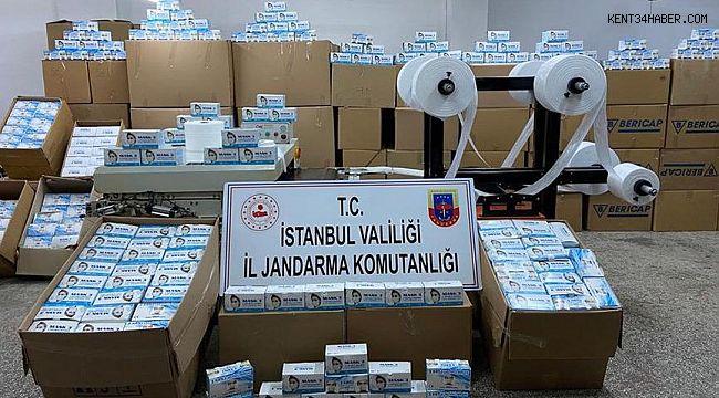 800 bin kaçak maske ele geçirildi
