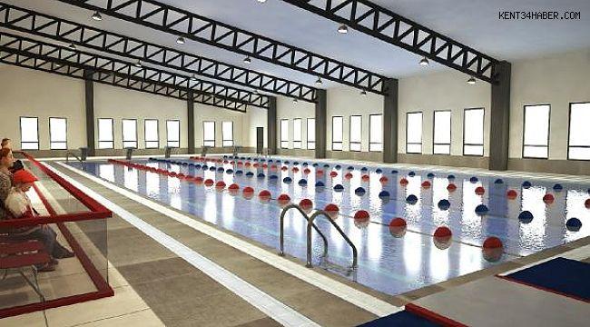 Akşemsettin'de yüzme havuzu inşaatı devam ediyor