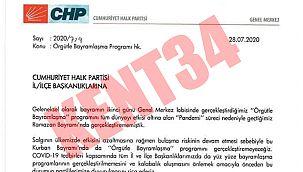 CHP'de bayramlaşma yasaklandı