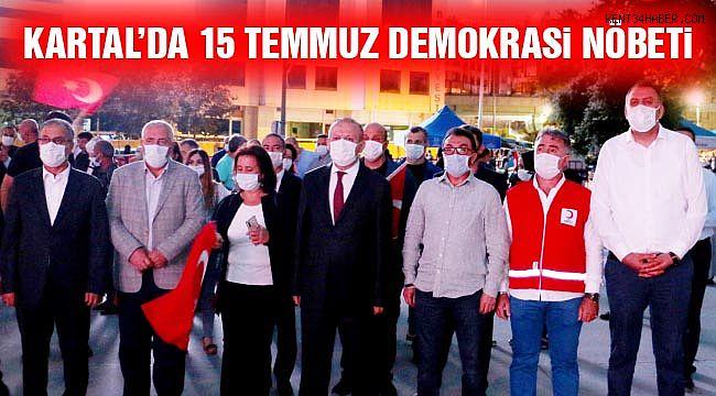 Kartal Meydanı'nda 15 Temmuz Demokrasi Nöbeti