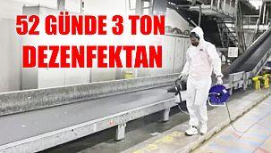 Sabiha Gökçen'de 52 günde 3 ton dezenfektan kullanıldı