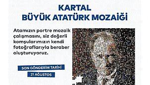 """Kartal Belediyesi'nden """"Dev Atatürk Portresi"""""""