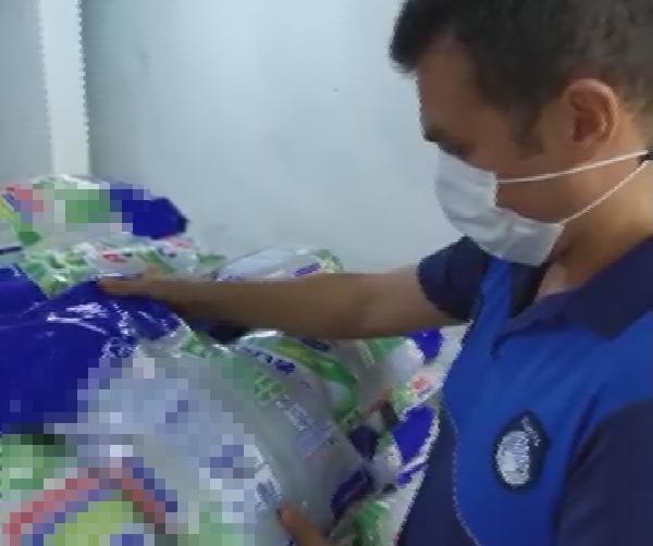 Tuzla'da Yaklaşık 3 Ton Kaçak Deterjan Ele Geçirildi