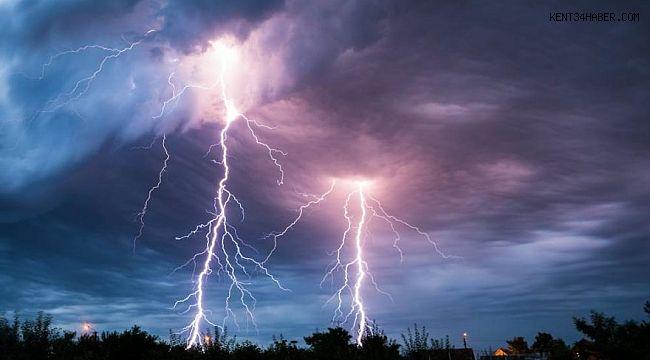 Marmara'da yıldırım fırtınası