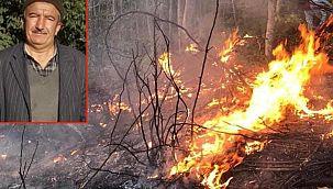 Yangını söndürmek isterken hayatından oldu