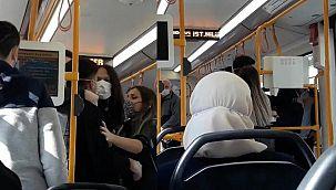Metroda 'Neden sarılıyorsun?' kavgası