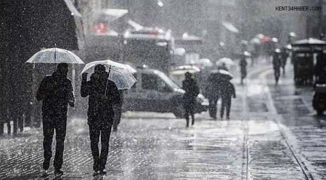 İstanbul'a Kuvvetli Yağış Uyarısı!