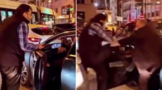 İstanbul'da trafikte tekmeli tokatlı kavga