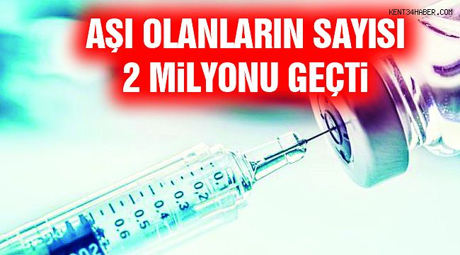 Aşı Yapılanların Sayısı 2 Milyonu Geçti