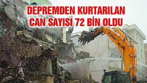 Depremden Kurtarılan Can Sayısı 72 Bin Oldu