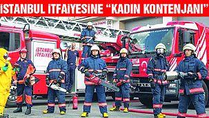 """İstanbul İtfaiyesi'ne """"Kadın İtfaiyeciler"""" Geliyor"""