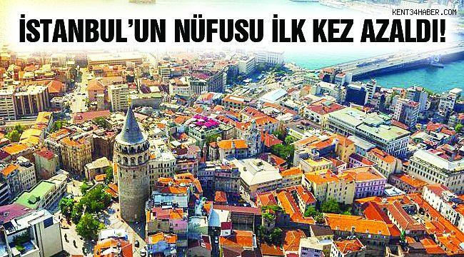 İstanbul'un Nüfusu İlk Kez Azaldı!